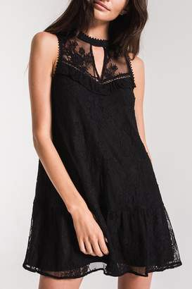 Black Swan Lace Babydoll Dress