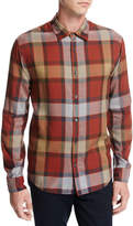 Vince Buffalo Plaid Sport Shirt, Orange