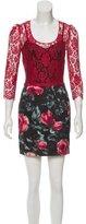 Dolce & Gabbana Guipure Lace-Trimmed Mini Dress