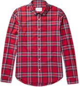 Sandro - Checked Cotton-flannel Shirt