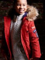 M&Co Faux fur trim hooded parka jacket