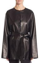 The Row Boni Leather Jacket