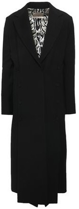 Roberto Cavalli Button-embellished Crepe Coat