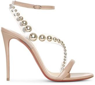 Christian Louboutin Corinetta 100 patent after sun sandals