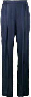 Stella McCartney Plisse Wide-Leg Trousers