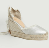 Castaner Silver Cotton and Leather Canela Espadrille Sandal - cotton/leather | silver | 40 - Silver/Silver