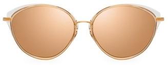 Linda Farrow 55MM Round Sunglasses