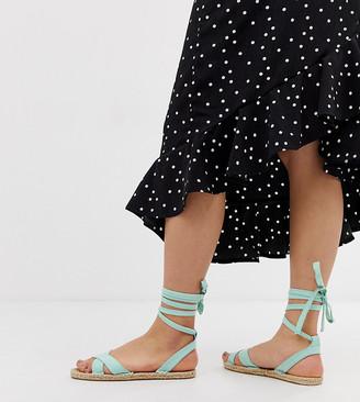 ASOS DESIGN Jala espadrille flat sandals in blue