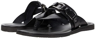 Massimo Matteo Thong with Buckle Strap (Black) Men's Shoes