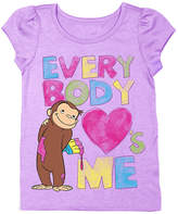 Freeze Lilac Curious George 'Everybody Loves Me' Tee - Toddler & Girls
