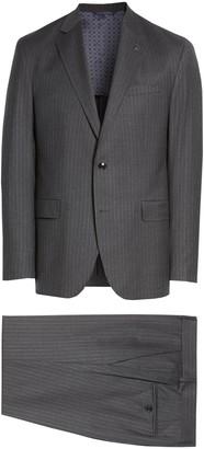 Ted Baker Konan Trim Fit Pinstripe Wool Suit