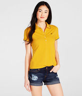 Aeropostale Womens Prince & Fox Tipped Piqu Polo Shirt