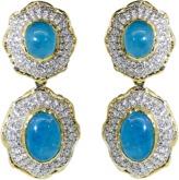 VICTOR VELYAN Cabochon Paraiba And Diamond Earrings