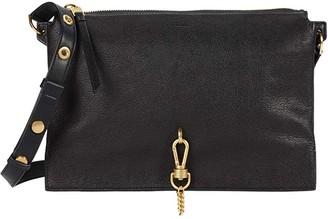 AllSaints Sheringham Leather Shoulder Bag (Black) Handbags