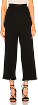 Rosetta Getty Viscose Ribbed Cropped Pants