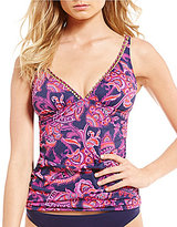 Tommy Bahama Jacobean Floral Over The Shoulder V-Neck Tankini