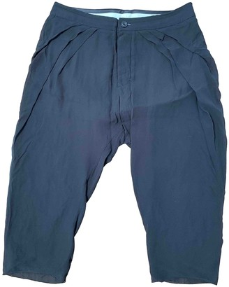 Rick Owens Black Silk Trousers