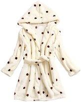 Aivtalk Boys Girls Kids Night Owl Bath Robe Kids Hooded Sleepwear Pajamas 2 - 7 Years