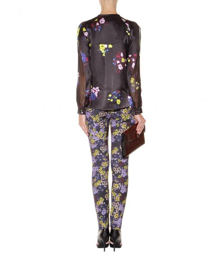 Erdem Sue floral-print silk blouse