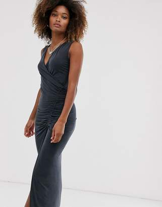 AllSaints jacka jersey sleeveless maxi dress-Black