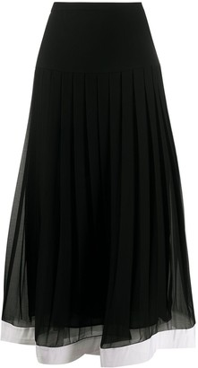 Givenchy Midi Pleated Skirt