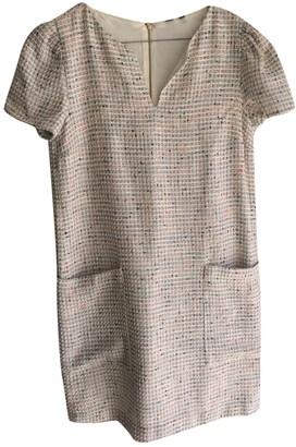 MANGO Beige Cotton Dress for Women