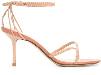 Francesco Russo braided 80mm crossover strap sandals