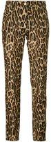 Alberta Ferretti leopard print straight trousers