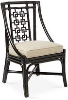 David Francis Furniture Palm Springs Side Chair - Black/Beige