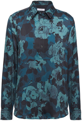 Equipment Leema Floral-print Satin Shirt