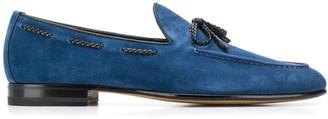 Santoni lace-up detail loafers