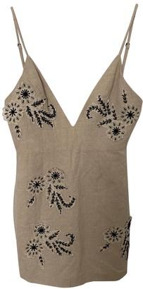 NBD Beige Linen Dress for Women