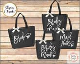 Etsy Personalized Bridal Tote Bag, Bridesmaid Tote Bag, Maid of Honor Tote Bag, Monogrammed Tote Bag (SPB