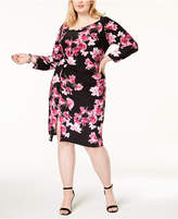 INC International Concepts I.N.C. Plus Size Printed Asymmetrical Dress, Created for Macy's