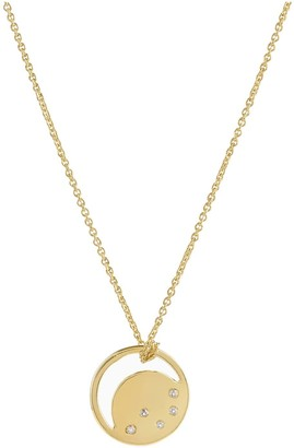 Neola Gold Eclipse Necklace With White Topaz