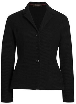 Loro Piana Giacca Newbury Baby Cashmere Button Jacket