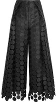 SOLACE London Hallie Lace Wide-leg Pants - Black
