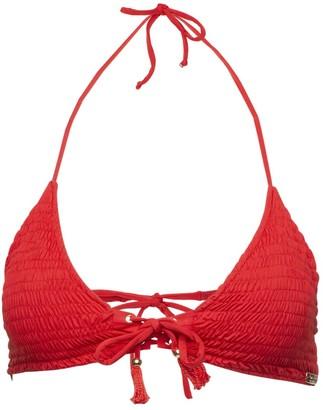 Passion Fruit Beachwear Orchid Bikini Top - Cherry Red