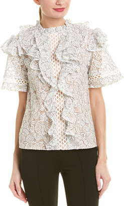 Champagne & Strawberry Lace Top