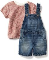 Old Navy 2-Piece Tee and Overalls Set for Baby