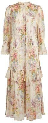 Needle & Thread Floral Diamond Chiffon Gown