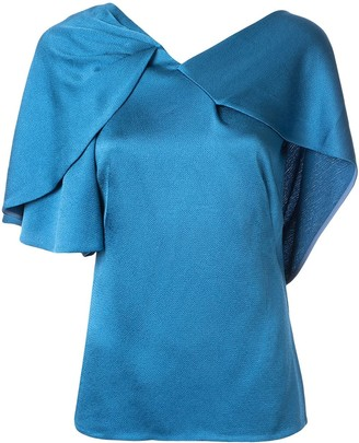 Peter Pilotto Hammered Satin Drape Top