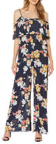 Laundry by Shelli Segal Floral-Print Two Tier Palazzo Jumpsuit