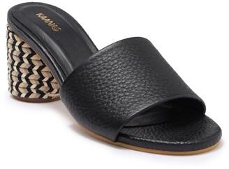 Kaanas Tobago Braided Block Heel Leather Sandal