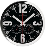 "Oliver Hemming Wall Clock - Black/Steel (12"")"