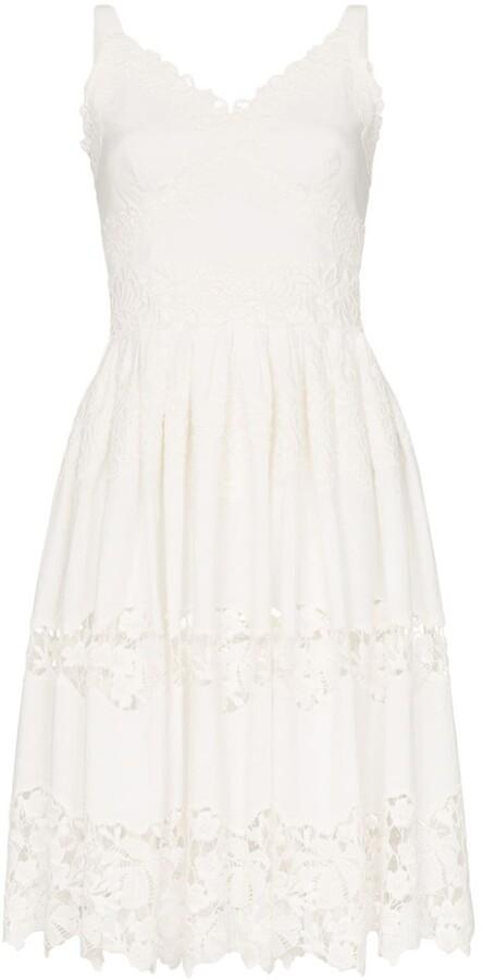 Dolce & Gabbana Floral embroidered cutout midi-dress