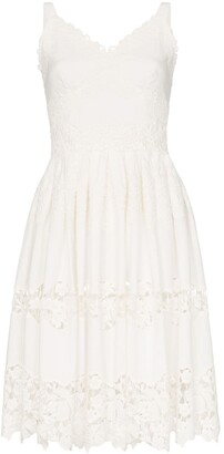 Dolce & Gabbana Floral embroidered cutout midi-dress