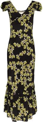 Rentrayage Floral-Print Midi Dress
