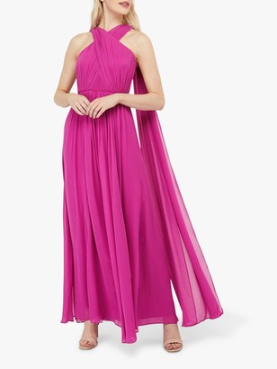 Monsoon Maura Maxi Dress, Pink