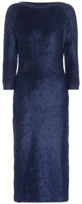 Prada Mohair and cotton-blend dress